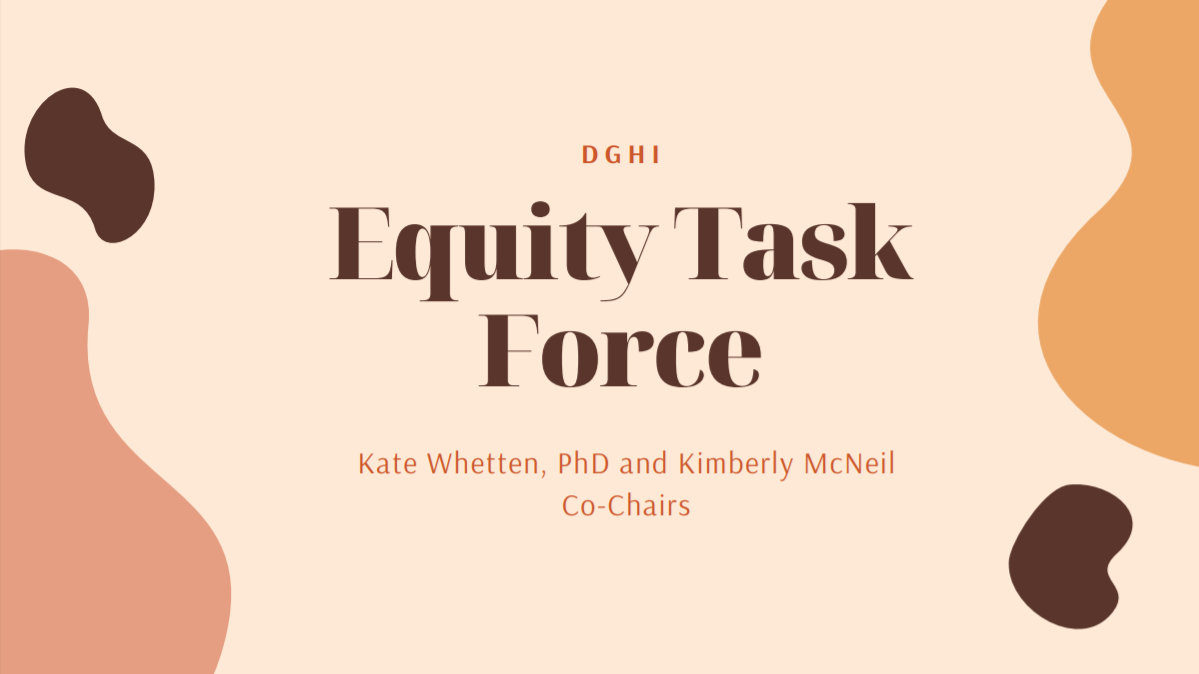 DGHI's Equity Task Force initiatives and subcommittees