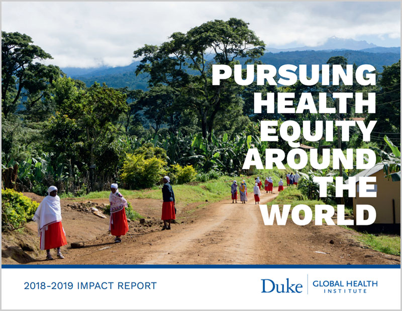 Pursing Health Equity Around the World - 2018-2019 Impact Report cover image