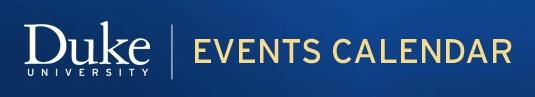 Duke University Events Calendar