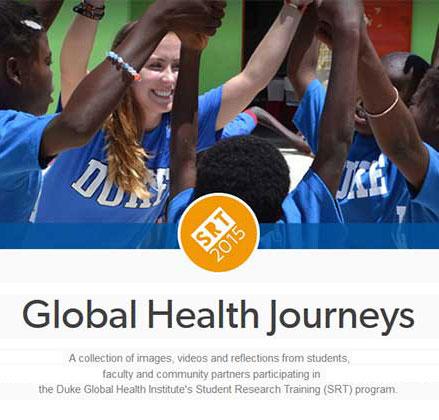 Global Health Journeys - screenshot of SRT Tumblr account