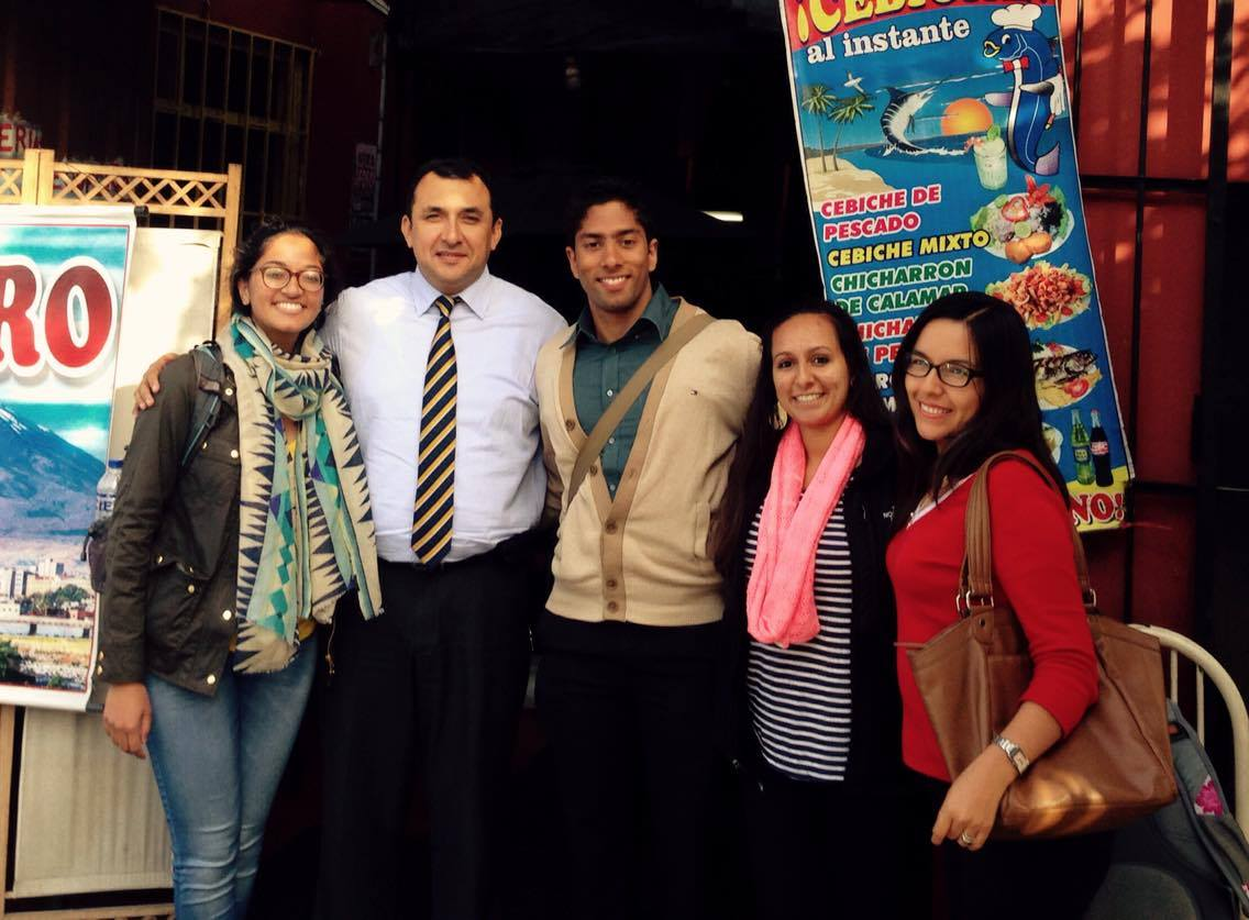 From left: Raina, Dr. Venegas, Manish, Denali, Yenny