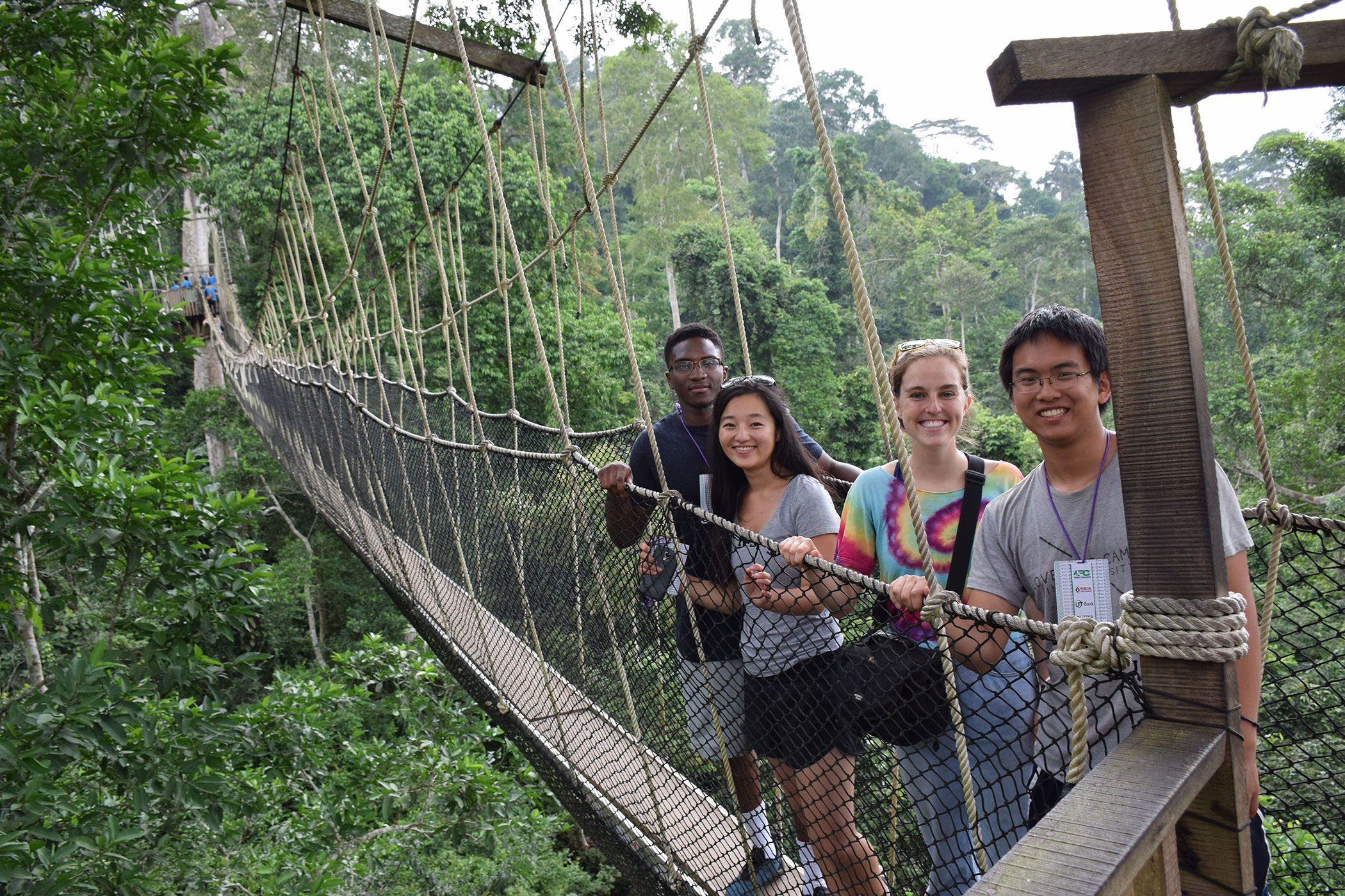 Duke SRT Team Canopy Walk at Kakum National Park
