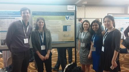 Bass team with our Penda Health research poster