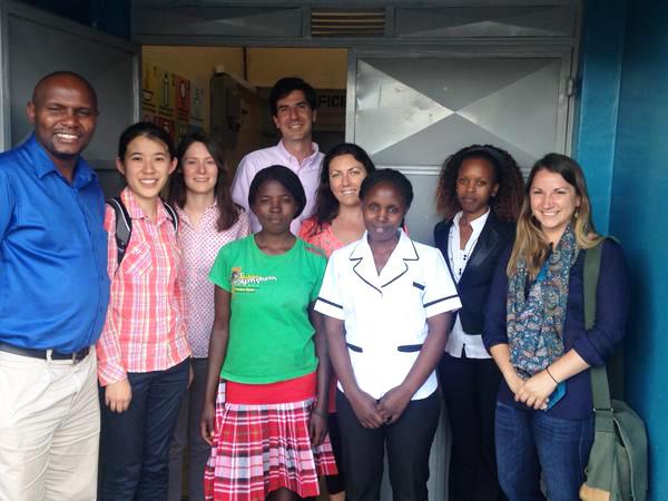 Bass team with Afya Research staff, Kibera Slum, Nairobi, Kenya
