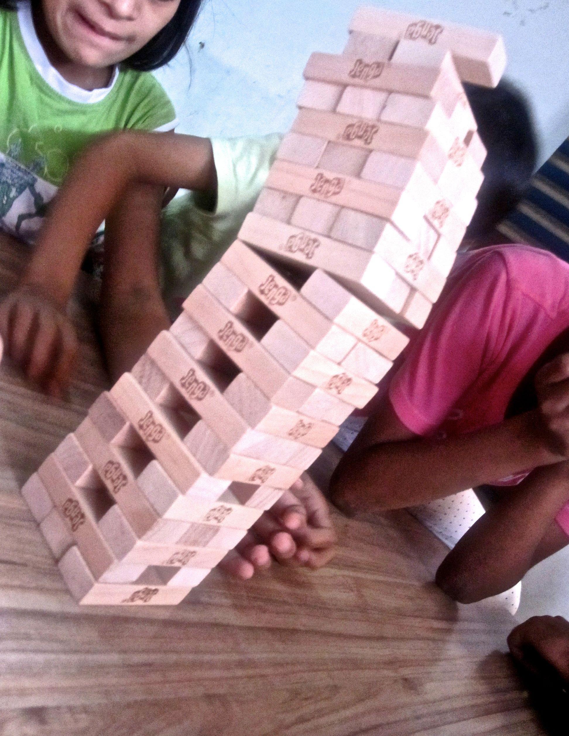 Amazing Jenga move by Udayan Care children
