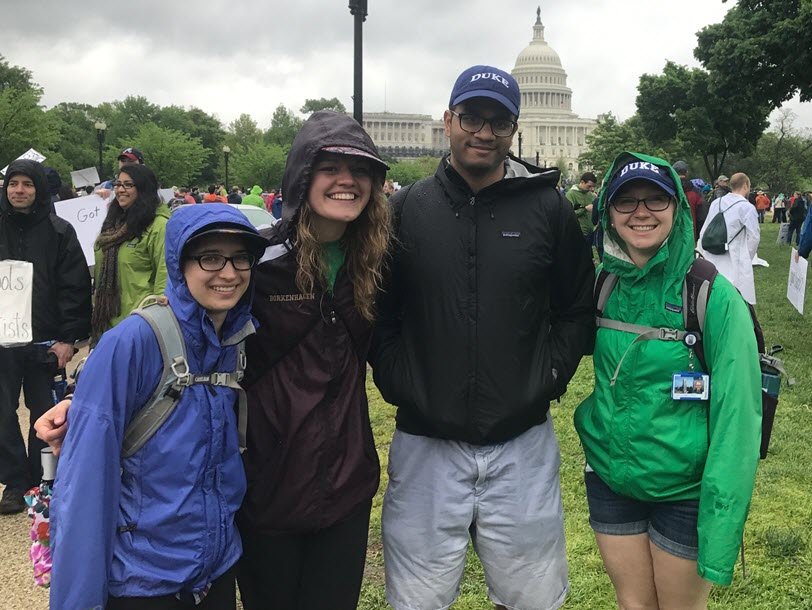 MSc-GH Students at March for Science