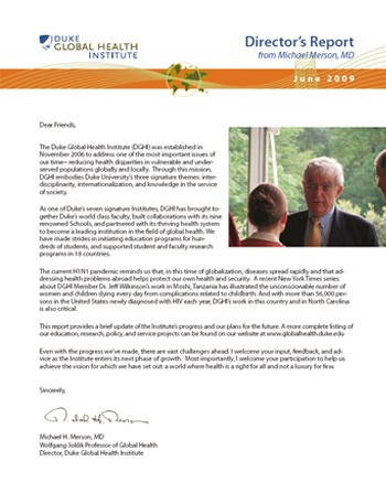 2009 Director's Report