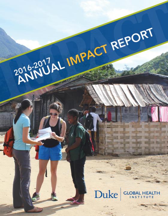 DGHI Impact Report: 2016-2017 cover