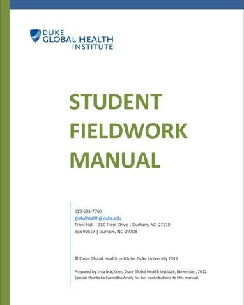 Student Fieldwork Manual
