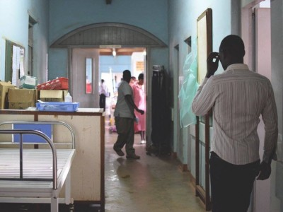The neurosurgery ward at Mulago Hospital. Photo by Kelsey Graywill.