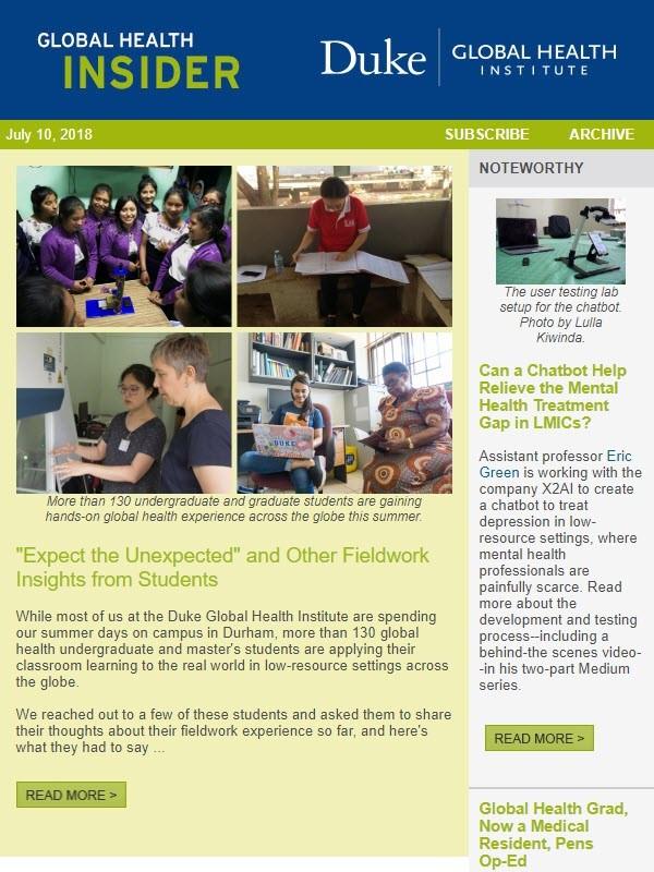 Newsletter Screen Grab