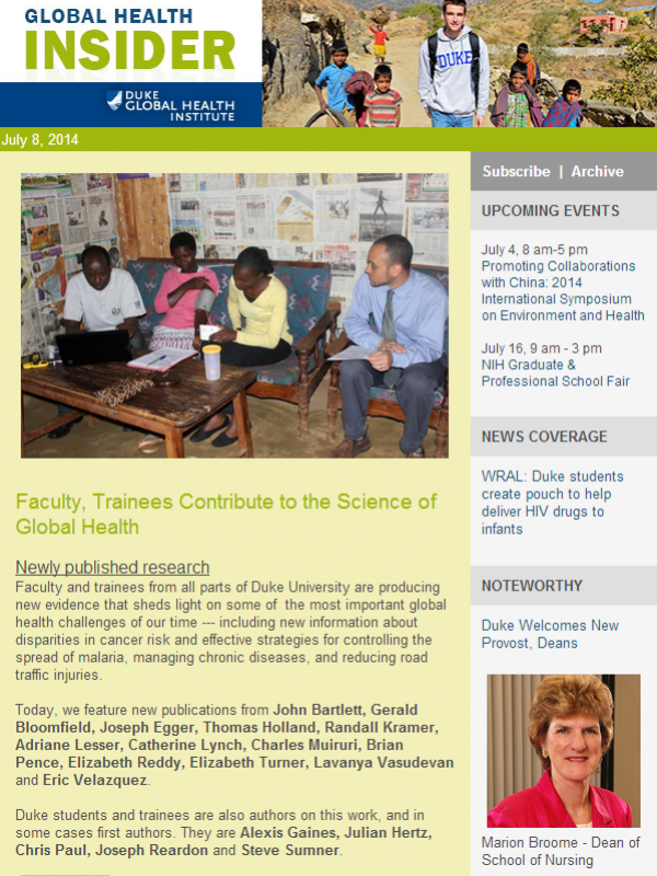 Global Health Insider July 8, 2014