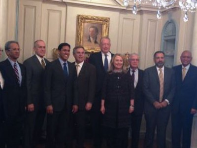Dr. Michael Merson met with Secretary Hillary Clinton, USAID Administrator Raj Shah and university presidents.