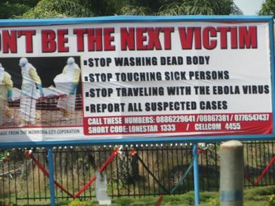 Ebola Prevention Sign