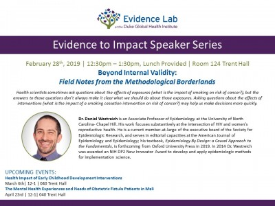 Evidence to Impact Speaker Series, Duke Global Health Institute