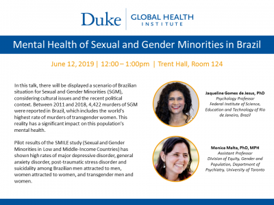 Duke Global Health Institute, CHPIR Visiting Scholars Lecture