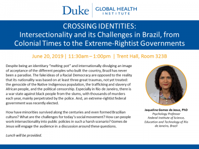 Duke Global Health Institute Lecture