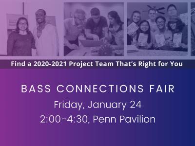 Bass Connections Fair, Jan. 24.