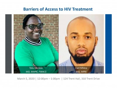 Barriers of Access to HIV Treatment speakers