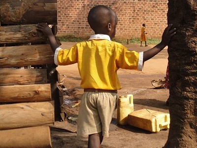 orphaned child in Uganda