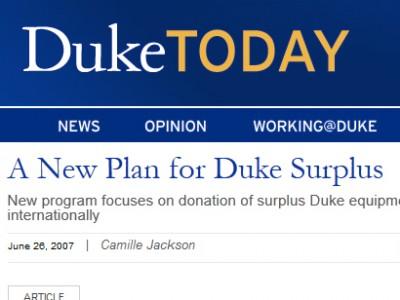 Duke Surplus