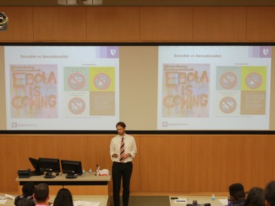 Dr. Wolfe Presenting History of Ebola