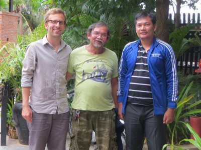 Josh Rivenbark with Two Cambodian Partners