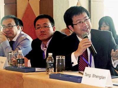 Shenglan Tang at a Beijing health conference