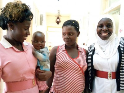 Born with gastroschisis, baby Nathaniel was one of the first in Uganda to survive the rare birth defect.