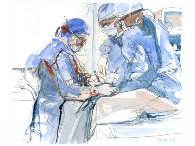 Pediatric_Surgery_Watercolor_by_Pete_Morris