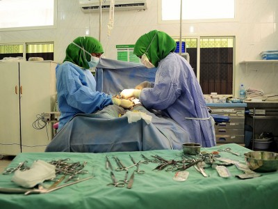 Female Surgeon Operating in Somaliland