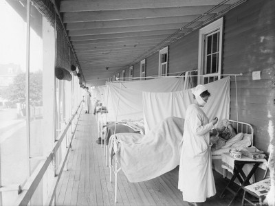 Scene from the flu ward at Walter Reed Hospital