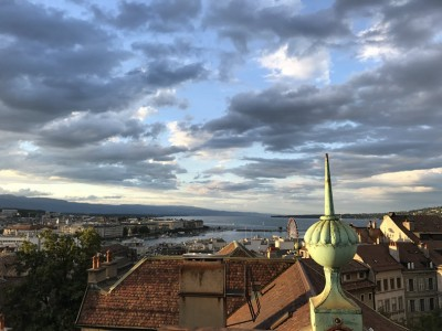 Geneva Skyline at Sunset