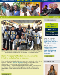 DGHI Prof Takes Middle Schoolers to Uganda   New Lean Evaluation Tools   Student Spotlight: Adriana Lein
