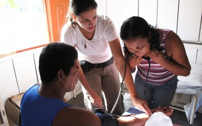 Global health student Rollin Say worked on a telemedicine project with local partners in Brazil.