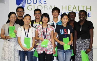 Students from China's Wuhan University and Kenya's Moi University visited DGHI to learn more about our global health priorities.