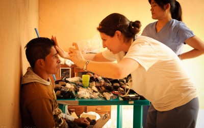Working at the clinic spearheaded by DGHI faculty member Dennis Clements, students see hundreds of patients over a week's time and distribute supplies like toothbrushes, soap, shampoo and vitamins.