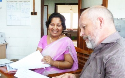 DGHI faculty member Dr. Truls Ostbye has health research projects under way in Galle, Sri Lanka. Dr. Nithershini Periyasamy, from the University of Peradeniya, is a visiting scholar at DGHI.