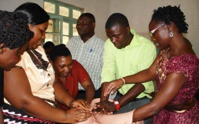 Global Health Fellow Ayaba Worjoloh helps lead an emergency obstetrics training program in Moshi, Tanzania.