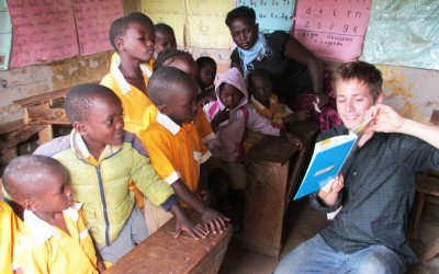 Global health student Craig Moxley worked at the Naama Millennium Preparatory School in Uganda as part of his fieldwork.