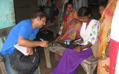 Computer assisted data collection in a village