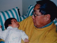 Charlotte Lee with grandfather