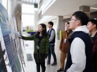 Student Jingyu Tong Presenting Poster