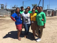 Jackie with Project Team in Cape Town