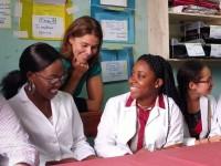 Nwosu and teammates at MNRH