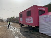 A mobile unit serving women in Ate, Peru