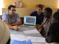 Baby Monitor project meeting with Kenyan community health workers