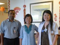Lisa Deng with colleagues in Malaysia