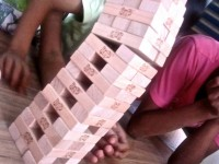 Amazing Jenga move by Udayan Care children