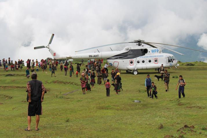 United National Humanitarian Air Service Helicopter